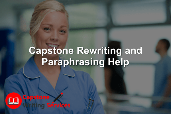 Capstone Rewriting and Paraphrasing Help
